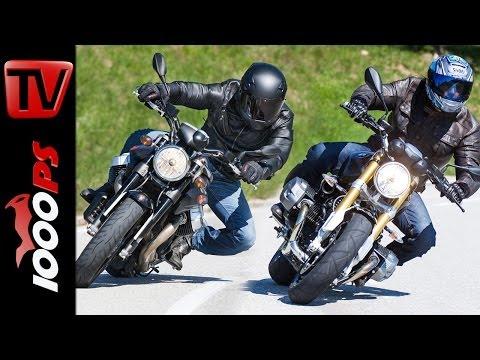 Vergleich | BMW R nineT vs Moto Guzzi GRISO 1200 8V - Action, Sound, Fazit