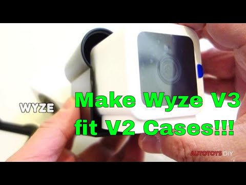 Wyze Cam V3 fitted into a V2 Case   DOES IT FIT? and HOW (modify V2 cases to it V3s)