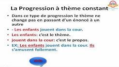 Les trois progressions thématiques (Constant-Linéaire-Éclaté)