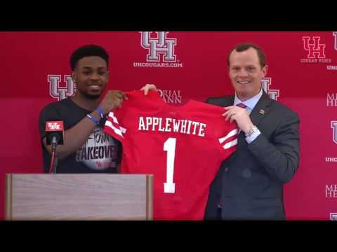 Houston Football Head Coach Major Applewhite Press Conferenc