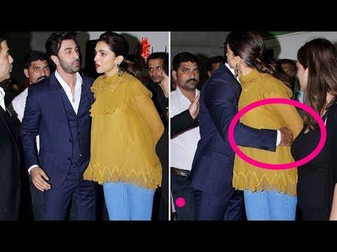 Deepika Padukone unfortable and dont hug back ex bf Ranbir Kapoor |Offscreen of Stars