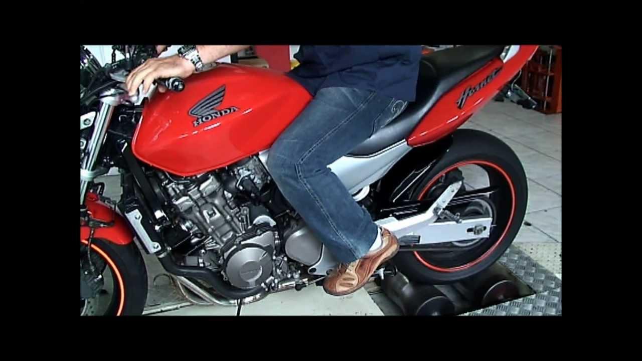 lr motos - hornet 600 vermelha no simulador de velocidade - youtube
