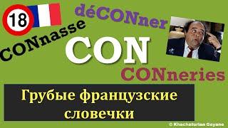 "Урок#116: Грубые французские слова ""con"", ""connard"" ... / Les gros mots francais"