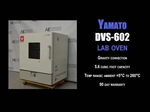Yamato DVS-602 programmable gravity convection oven (3711J OVEN)