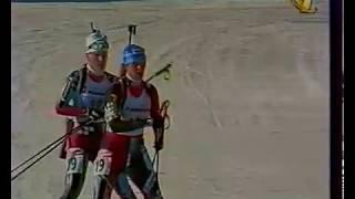 Биатлон-1997. Чемпионат мира в Осрблье. Женская командная гонка.