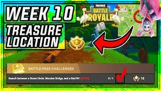 *New* Search Between a Stone Circle Free Tier Challenge {Week 10 Challenge} (Season 3 Fortnite BR)