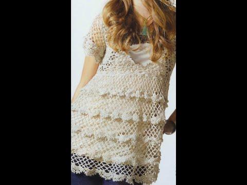GRÁFICOS para tejer Túnica a crochet - YouTube