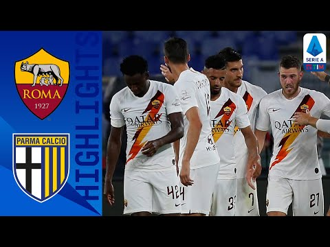 Roma 2 1 Parma Goals From Mkhitaryan Veretout Hand Roma A Come From Behind Win Serie A Tim Youtube