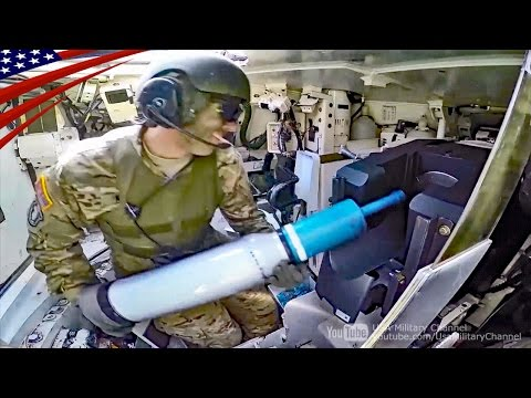 M1エイブラムスの車内映像 : 装填手・操縦手・砲手・車長