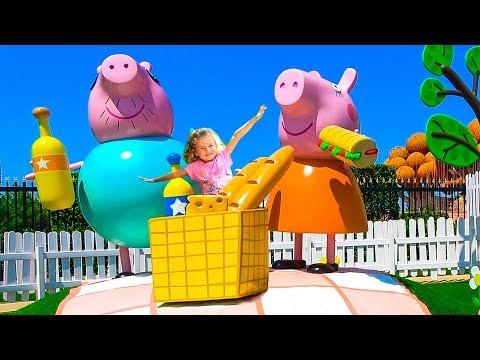 PEPPA PIG LAND Theme Park / 胁 锌邪褉泻械 小胁懈薪泻懈 袩械锌锌褘.