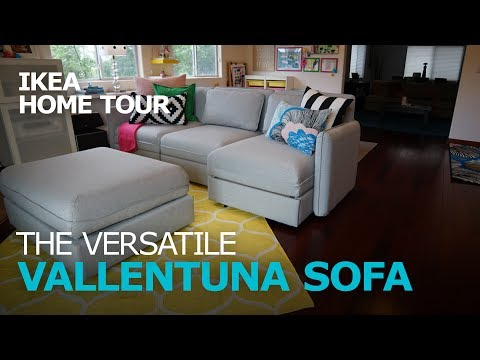 smart-and-durable-vallentuna-sectional-sofa---ikea-home-tour