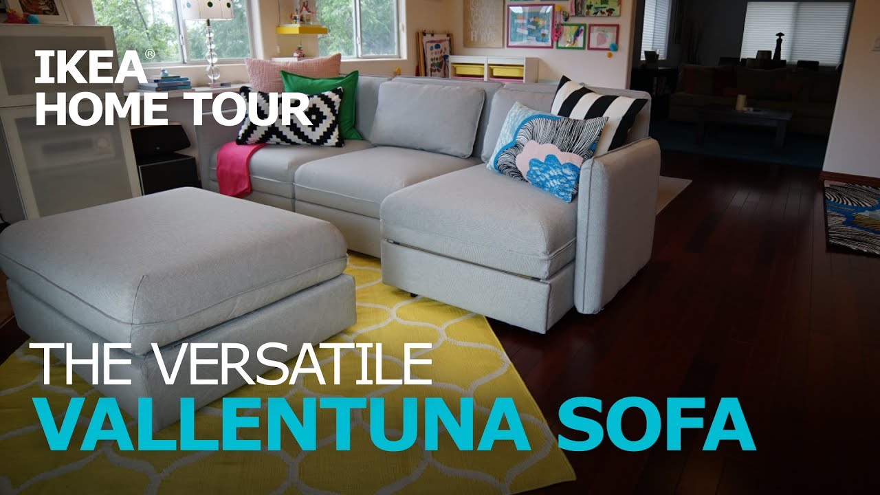 Smart And Durable Vallentuna Sectional Sofa Ikea Home Tour Youtube
