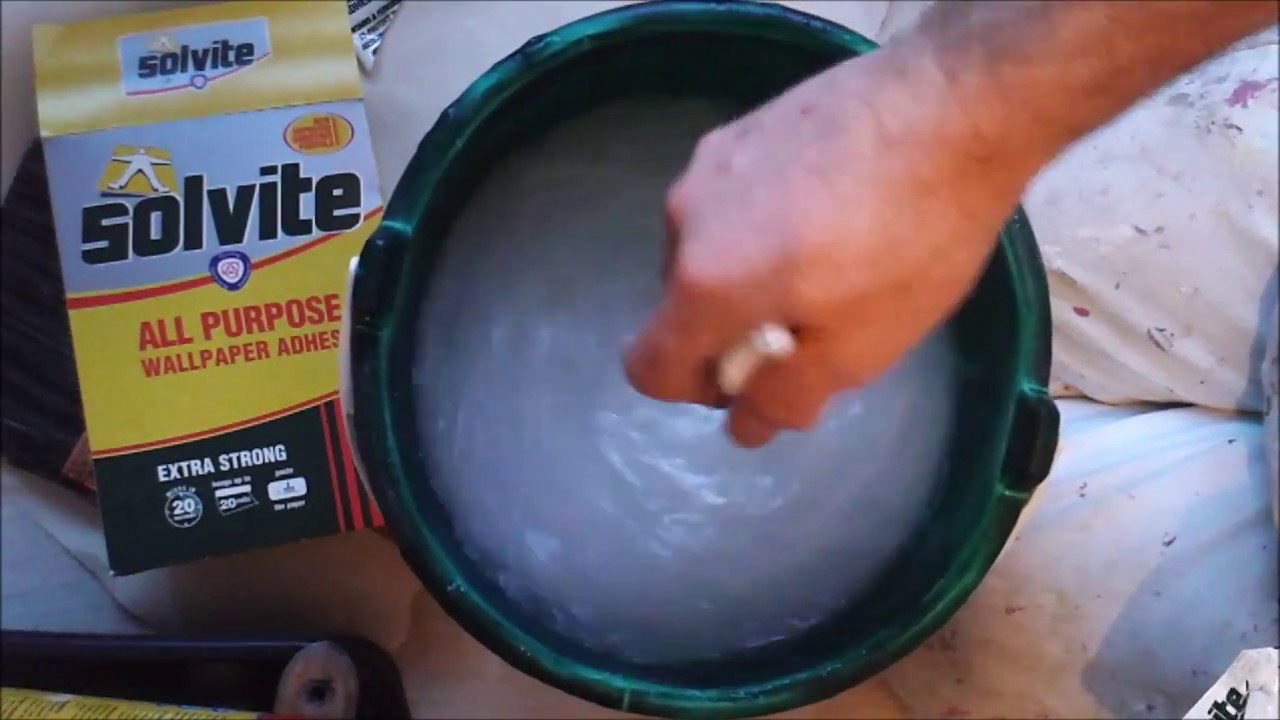 Solvite Wallpaper Paste Extra Strong Quick To Mix - YouTube