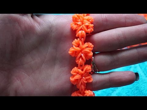 Вязать из резинок цветы