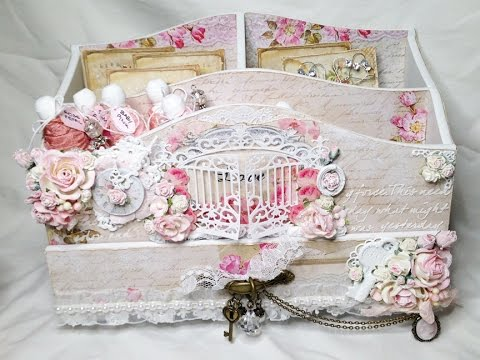shabby chic altered storage box swap for rina youtube. Black Bedroom Furniture Sets. Home Design Ideas