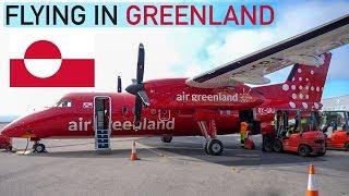 Flying Air Greenland from Kangerlussuaq to Nuuk via Maniitsoq