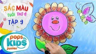 Sắc Màu Tuổi Thơ - Tập 9 - Bé Tập Vẽ Hoa Cầu Vồng   How To Draw Rainbow Flower Coloring For Kids