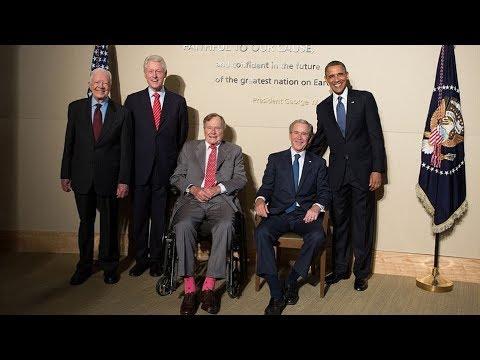 Năm cựu tổng thống Mỹ cùng nhau vận động cứu trợ thiên tai