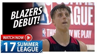 Zach Collins Full Blazers Debut Highlights vs Jazz (2017.07.08) Summer League - 10 Pts, 7 Reb, 4 Blk