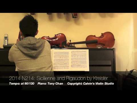 66th HKSMF N214 Violin Solo: Sicilienne and Rigaudon by Kreisler (Piano)