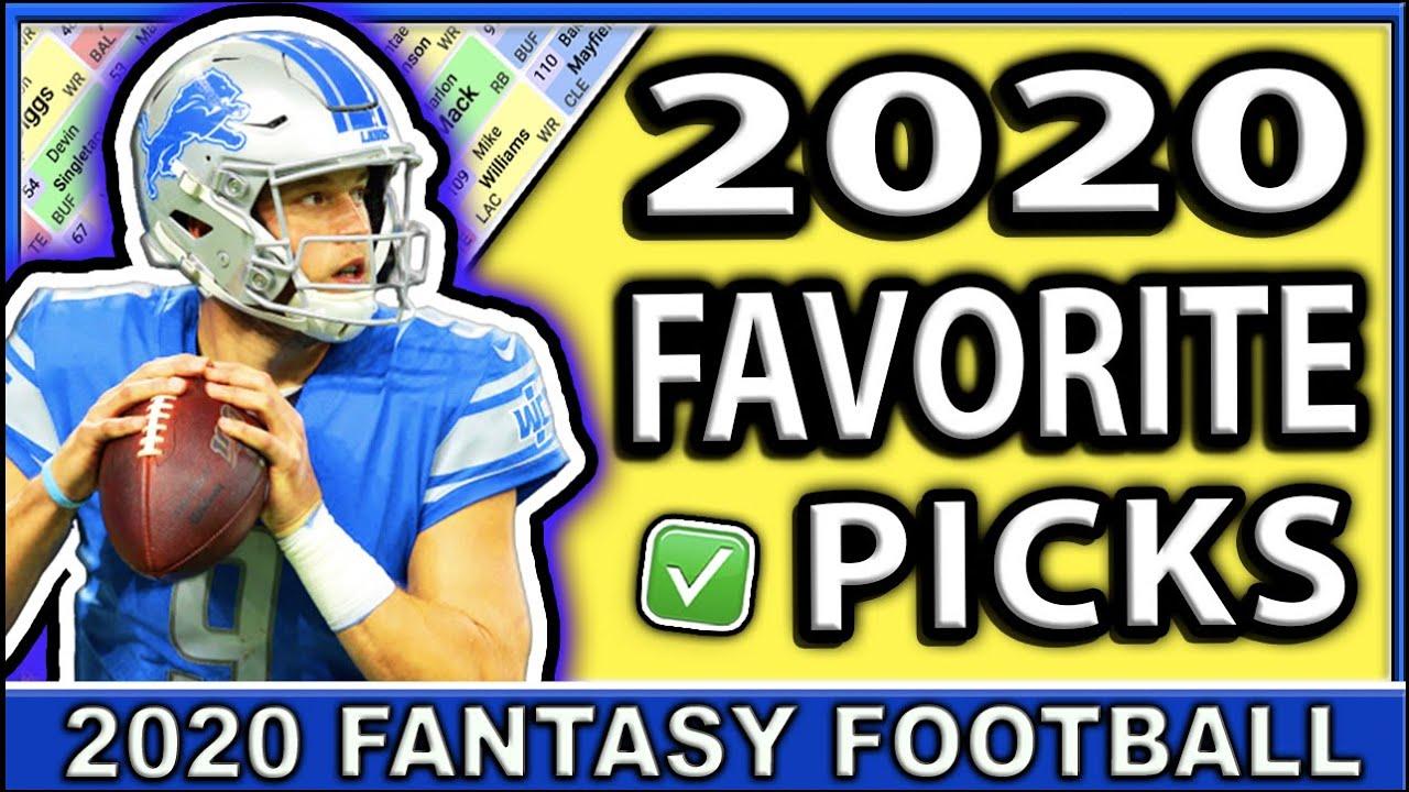 2020 Fantasy Football Our FAVORITE Picks | MUST DRAFT PICKS