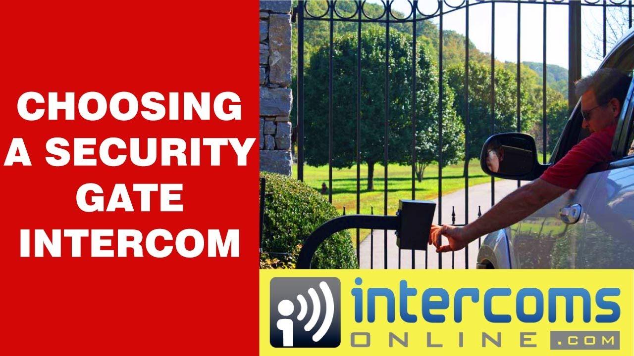 Wireless Security Gate Intercom System 888 298 9489