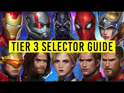 Tier 3 Selector Guide (1 To 10 Ranked) - Marvel Future Fight