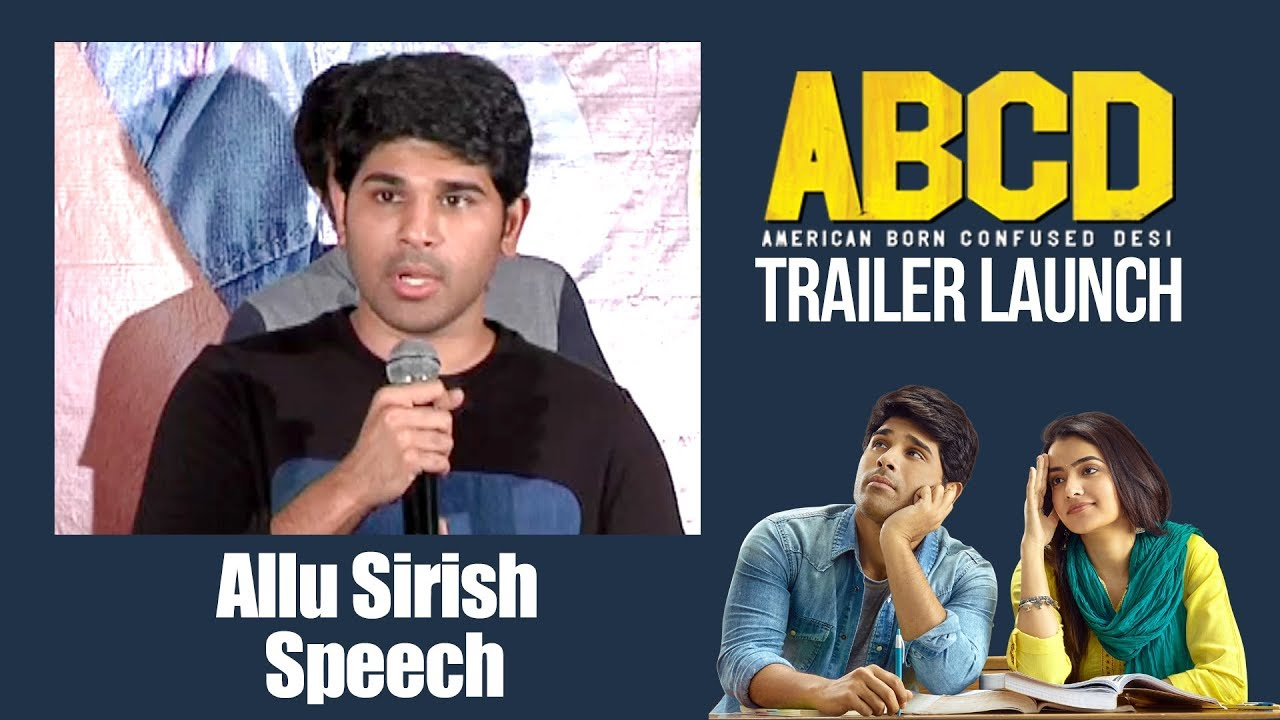 Allu Sirish Speech | #ABCD Trailer Launch | Allu Sirish | Rukshar Dhillon