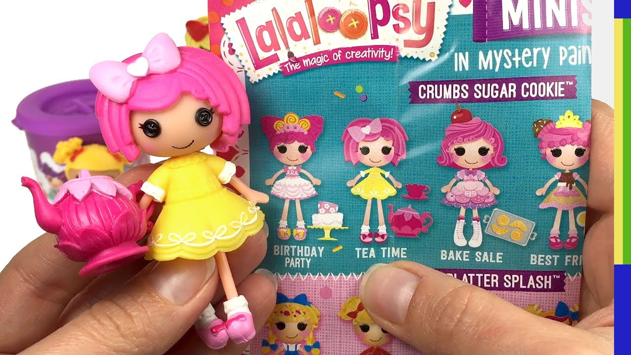 Lalaloopsy Minis Dolls Series 2 Surprise Paint Can Blind Bag Opening ...
