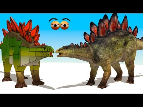 CUBE BUILDER for KIDS (HD) - Build a Stegosaurus for Children - AApV