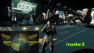 Star Citizen Alpha 2.6 All 84 Emotes! Adding Attitude to Your Immersion