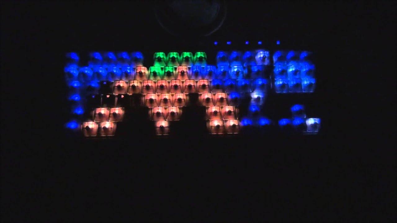 CORSAIR K65 RGB MAX KEYBOARD REPLACEMENT KEYCAPS AT NIGHT v2