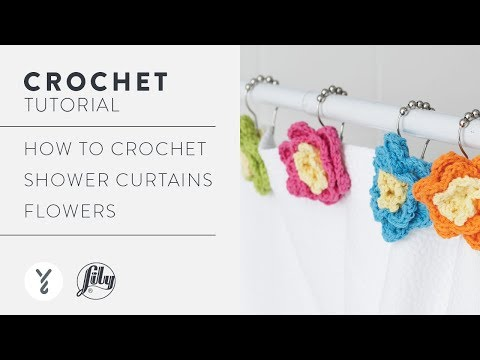 How To Crochet Shower Curtain Flowers