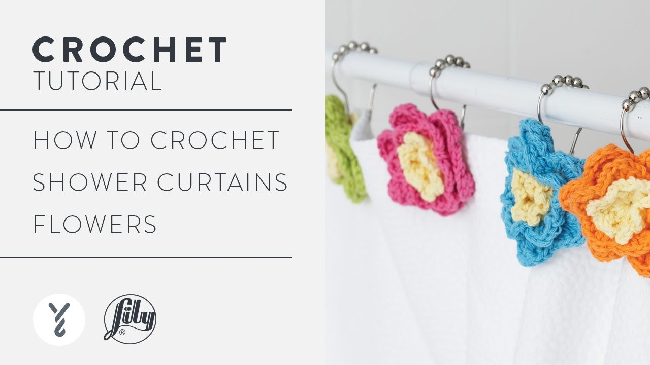 Crochet Shower Curtain Flowers Youtube