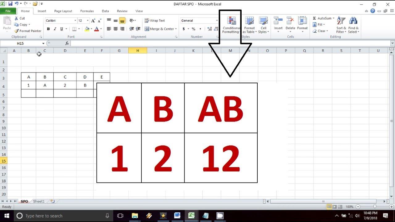 Cara Menggabungkan Beberapa Isi Sel Excel Menjadi Satu Sel Tips Excel Youtube