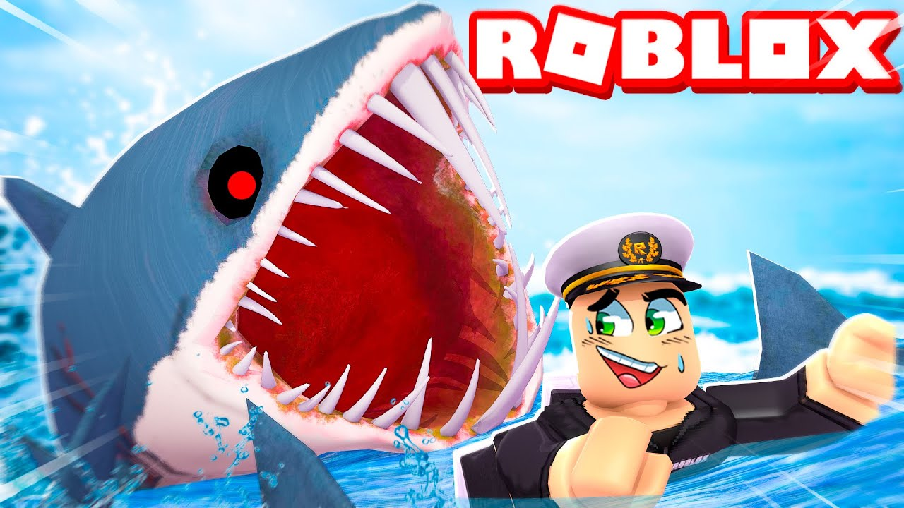 Download ATTACKED by GIANT SHARKS in ROBLOX