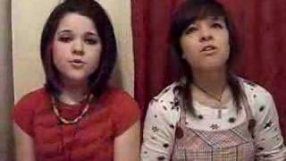 my sister and i singing Cassie Flyleaf