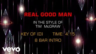Tim McGraw - Real Good Man (Karaoke)