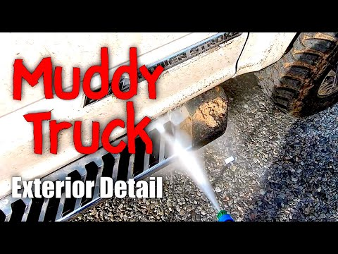 huge-muddy-truck-detail!-#fordtruck-#muddytruck