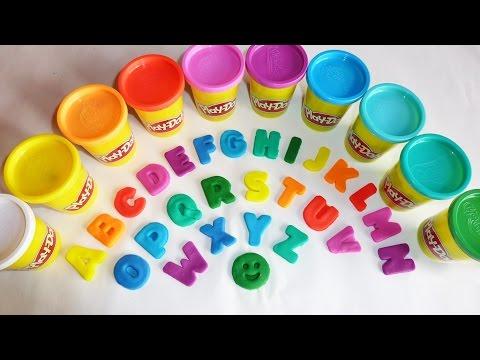 ABC Play Doh Alphabet  Animal Sounds  Alphabet Song  Surprise Eggs  Nursery Rhymes