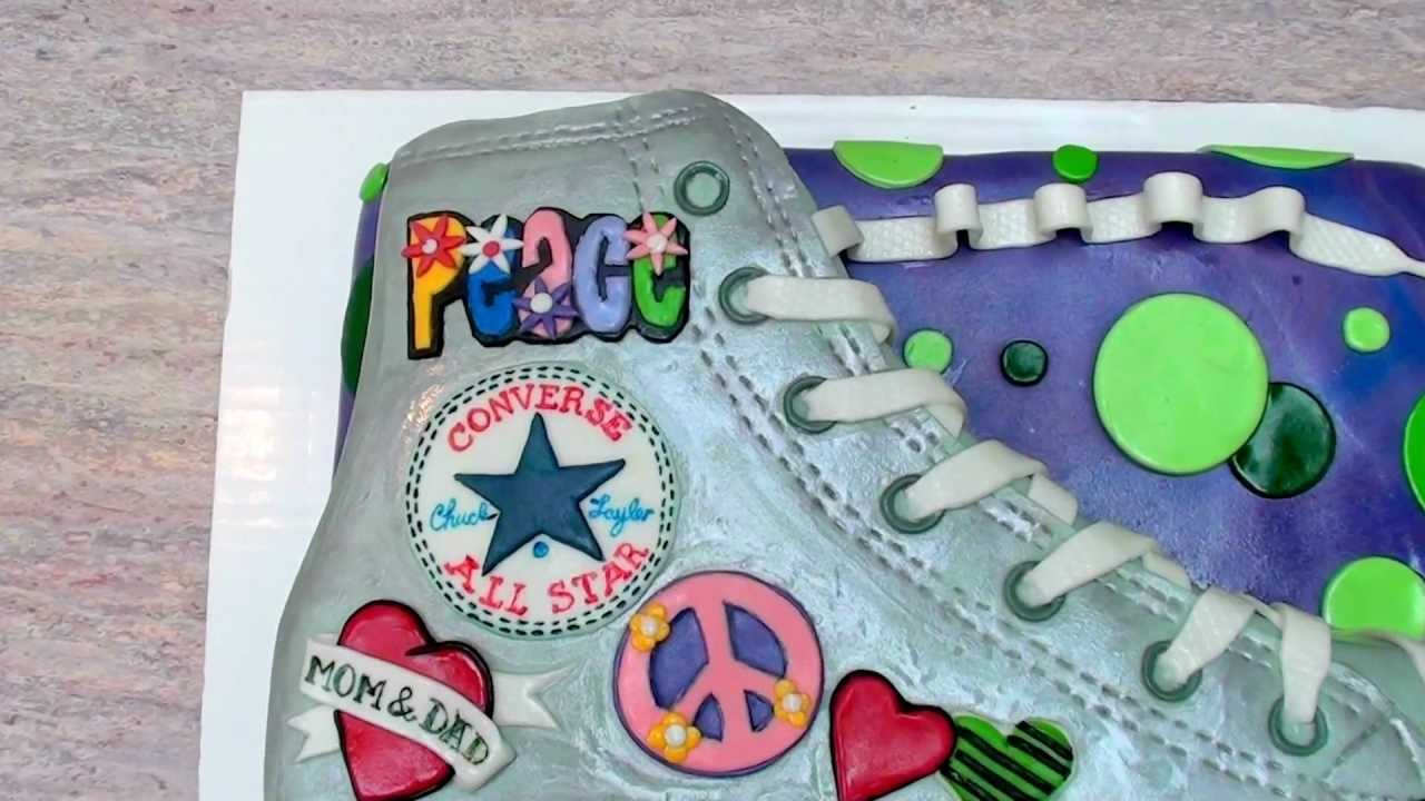 THE CAKE DON CONVERSE ALL STAR CHUCK TAYLOR Cake YouTube - All star birthday cake