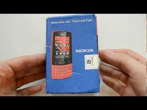 Распаковка Nokia Asha 303 (unboxing)