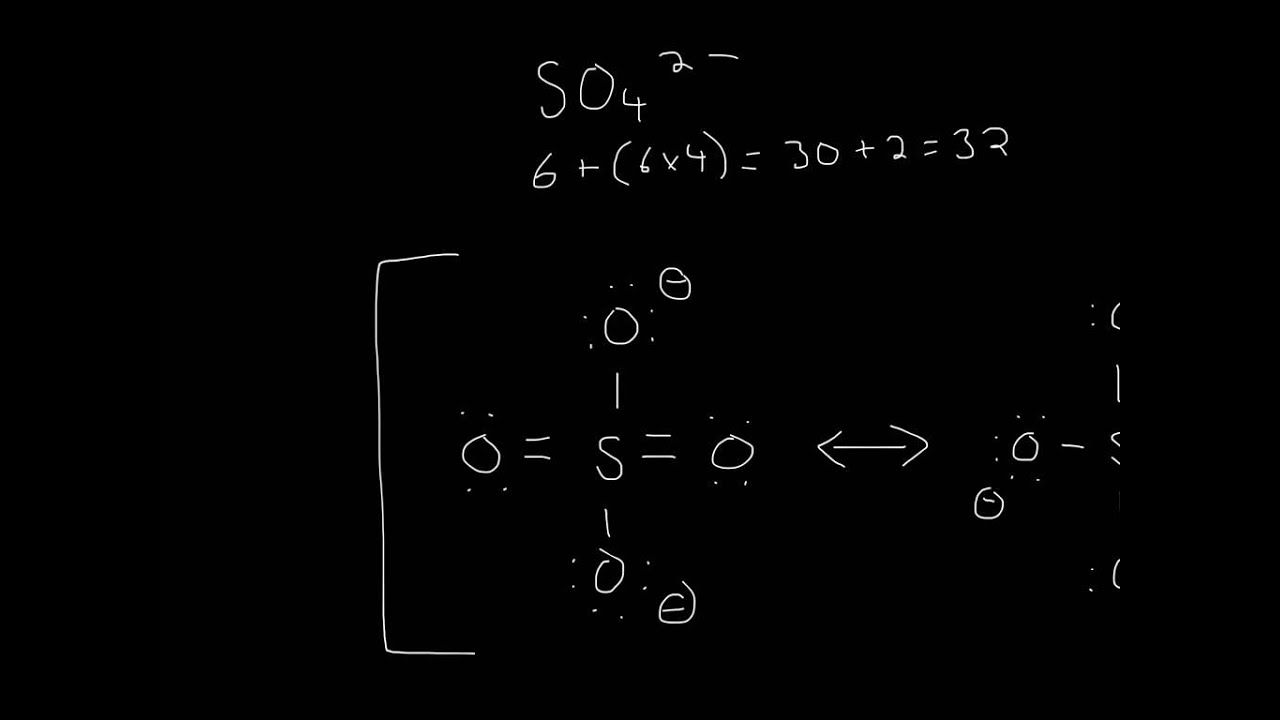 so4 2-lewis structure - 1280×720