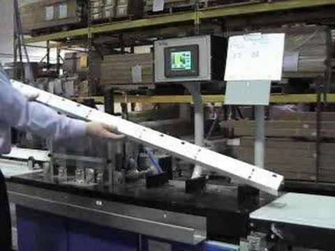 "Sani USA .com Headrail Machine for 2"" Blinds - Automatic feeding, showing 3-on-1 Auto Feeding"