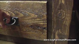 Timberwood Barnwood 2 Drawer Nightstand From Logfurnitureplace.com