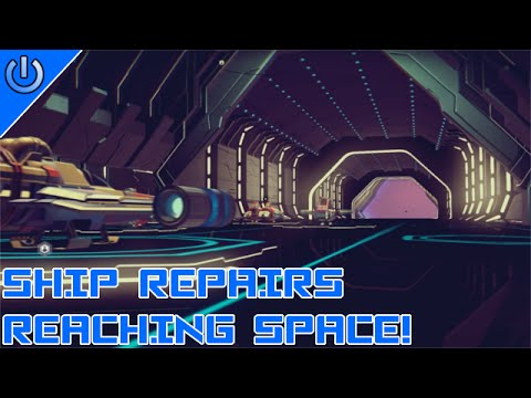 No Man's Sky Pt 1 - Ship Repairs, Reaching Space!