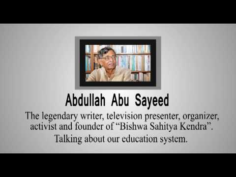 Education advice from Abdullah Abu Sayeed (Legend) for Junior Aid