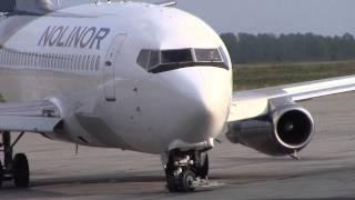 Nolinor | Boeing 737-200 engine start & take-off | C-GNLK | Val-d'Or (CYVO)