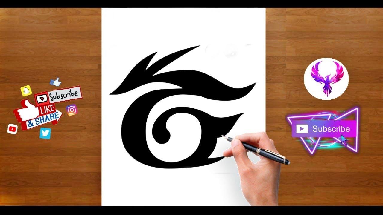 Garena Free Fire Drawing Garena Logo Drawing Free Fire Youtube