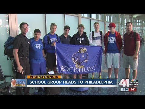 Rockhurst High School students head to see Pope Francis